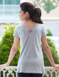 Mel Bee - Mel Bee Tavşan Baskılı Lohusa T-Shirt Gri MB4507 (1)