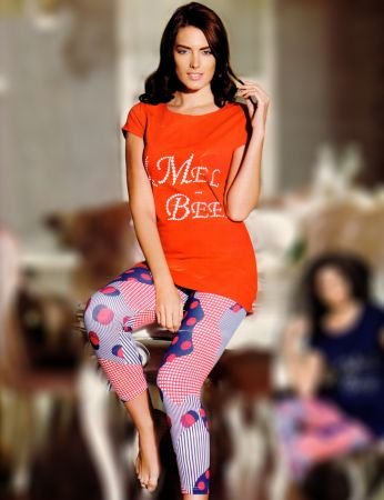 Mel Bee - Mel Bee Taytlı Takım Kırmızı MBP21718-1