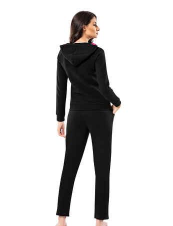 Mel Bee - Mel Bee Women Hood Track Suit Black MBP23615-1 (1)