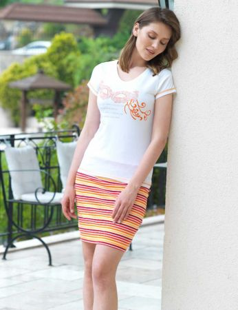 Şahinler - Mel Bee Women T-Shirt and Short Set D-16