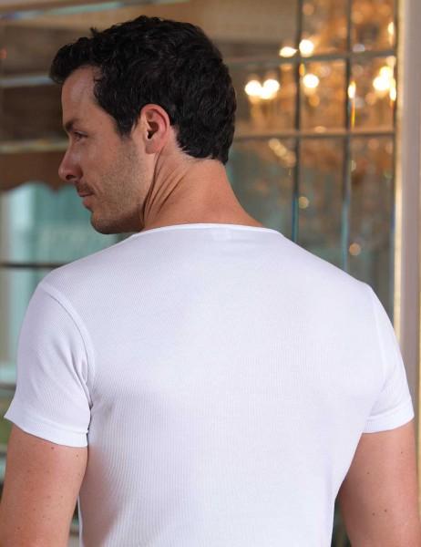 Şahinler - Sahinler 2x2 Rib Singlet Crew Neck Short Sleeve White ME088 (1)