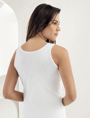 Şahinler - Sahinler 6-pack geripptes Unterhemd mit breiten Trägern weiß MB009 (1)
