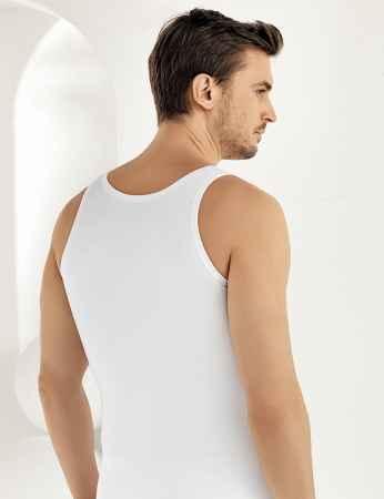 Şahinler - Sahinler 6-pack Supreme Lycra Unterhemd mit breiten Trägern weiß ME066 (1)