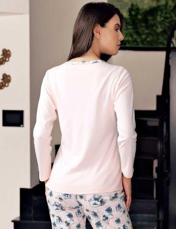 Şahinler - Şahinler Alt Desenli Pijama Takımı MBP23715-1 (1)