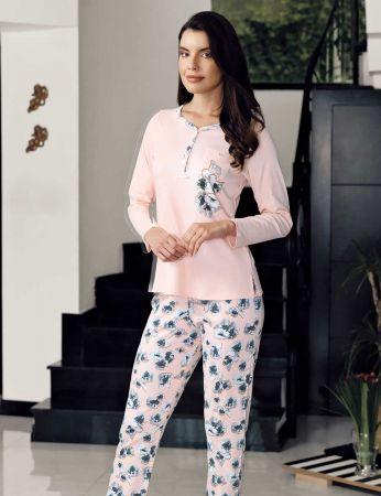 Şahinler - Şahinler Alt Desenli Pijama Takımı MBP23715-1