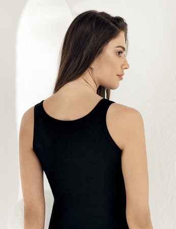 Şahinler - Sahinler Basic-Unterhemd mit breiten Trägern und Muster schwarz MB800 (1)