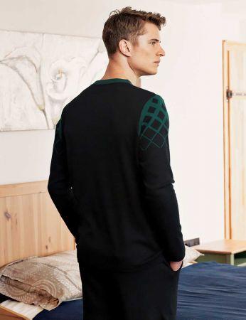 Şahinler - Şahinler Baskılı Düğmeli Erkek Pijama Takımı Yeşil MEP24514-1 (1)