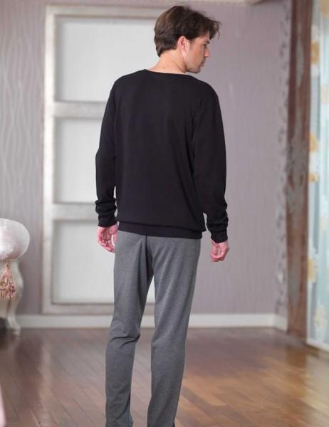 Şahinler - Şahinler Baskılı Erkek Pijama Takımı Siyah MEP23227-1 (1)
