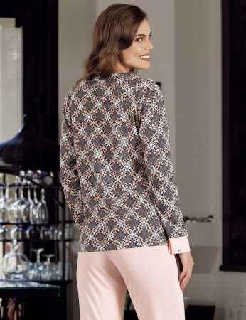 Şahinler - Şahinler Baskılı Pijama Takımı Desenli MBP23721-1 (1)
