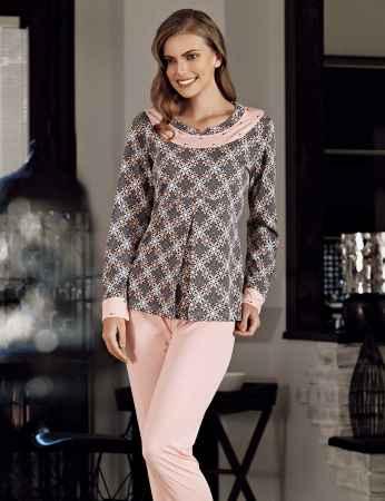 Şahinler - Şahinler Baskılı Pijama Takımı Desenli MBP23721-1