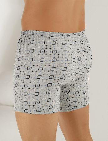 Sahinler Baumwoll-Boxer-Short mit Knöpfen gemustert ME010