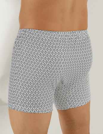 Sahinler Baumwoll-Boxer-Short mit Knöpfen gemustert ME010 - Thumbnail