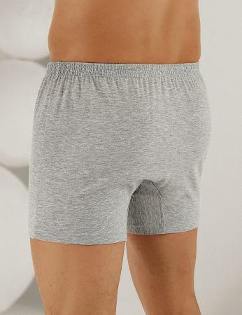 Sahinler Baumwoll-Boxer-Short mit Knöpfen grau ME010