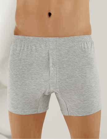 Sahinler Baumwoll-Boxer-Short mit Knöpfen grau ME010 - Thumbnail