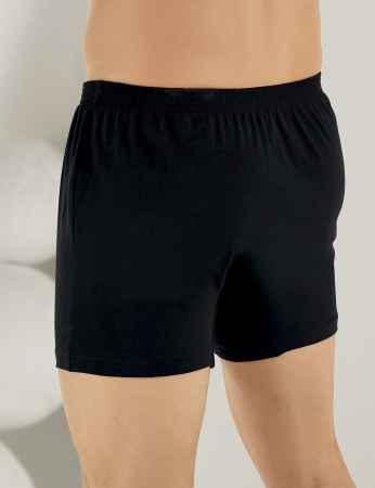Şahinler - Sahinler Baumwoll-Boxer-Short mit Knöpfen schwarz ME010 (1)