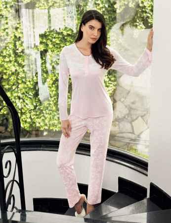 Şahinler Bayan Pijama Takımı Açık Pembe MBP23719-1 - Thumbnail