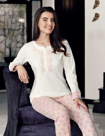 Şahinler - Şahinler Bayan Pijama Takımı Desenli MBP23716-1