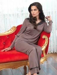 Şahinler - Şahinler Bayan Pijama Takımı Vizon MBP23115-2