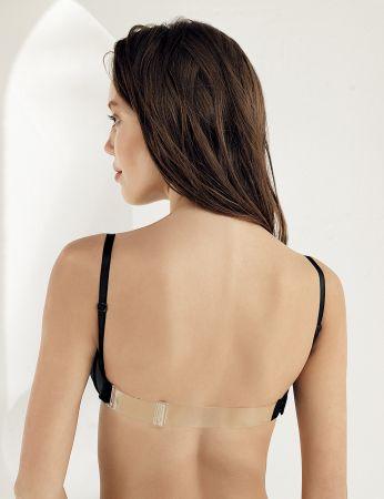 M9375 صدرية سوداء مجوفة شفاف من الخلف