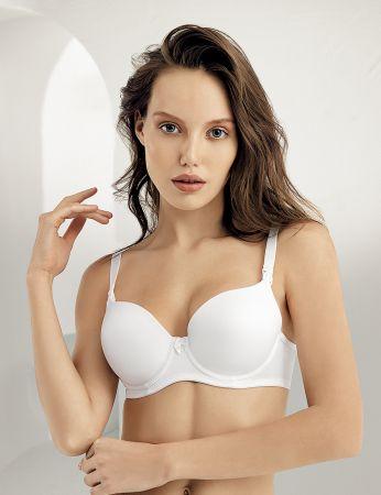 Şahinler - M9500 صدرية بيضاء للرضاعة قلب (1)