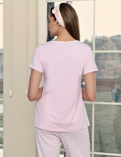 Şahinler Breastfeeding Maternity Sleepwear Set PinkMBP23417-1