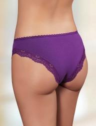 Sahinler Brief Lace Waist & Hem Purple MB300 - Thumbnail