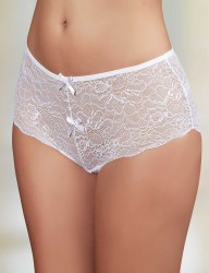 Şahinler - Sahinler Brief Wide Lace Transparent White MB3030