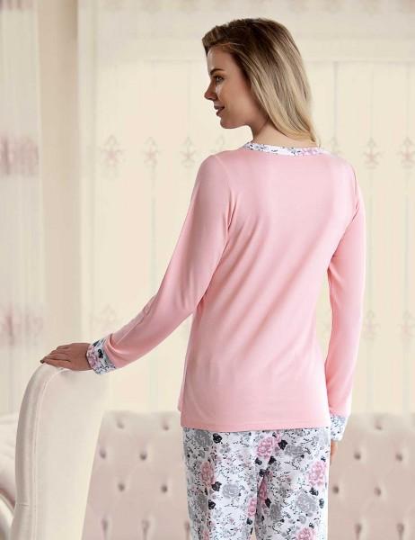Şahinler - Şahinler Çiçek Desenli Kadın Pijama Takımı MBP23430-1 (1)
