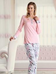 Şahinler - Şahinler Çiçek Desenli Kadın Pijama Takımı MBP23430-1