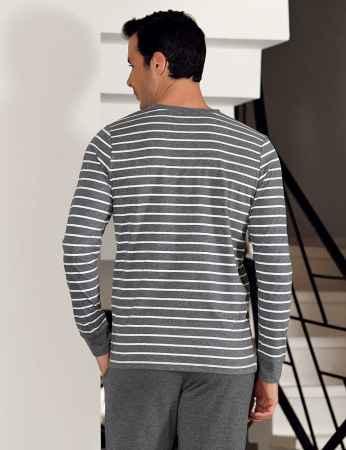 Şahinler Çizgili Erkek Pijama Takımı MEP23804-1 - Thumbnail