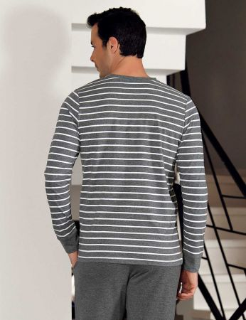 Şahinler Çizgili Erkek Pijama Takımı MEP23804-1
