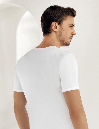 Şahinler - Sahinler Cotton Singlet Crew Neck Short Sleeve White ME001 (1)