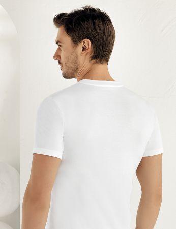 Şahinler - Sahinler Cotton Singlet Crew Neck Short Sleeve White ME003 (1)