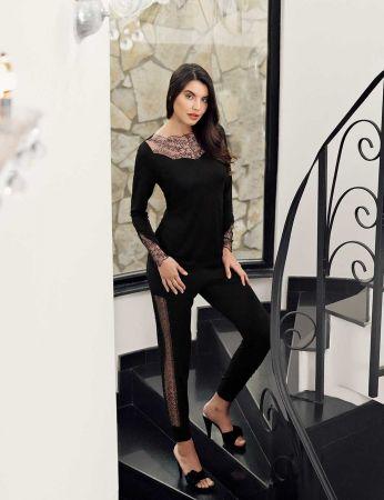 Şahinler - Şahinler Dantelli Bayan Pijama Takımı MBP24411-1