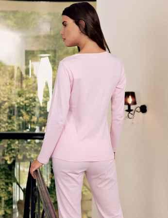 Şahinler - Şahinler Dantelli Pijama Takımı Pembe MBP23702-1 (1)