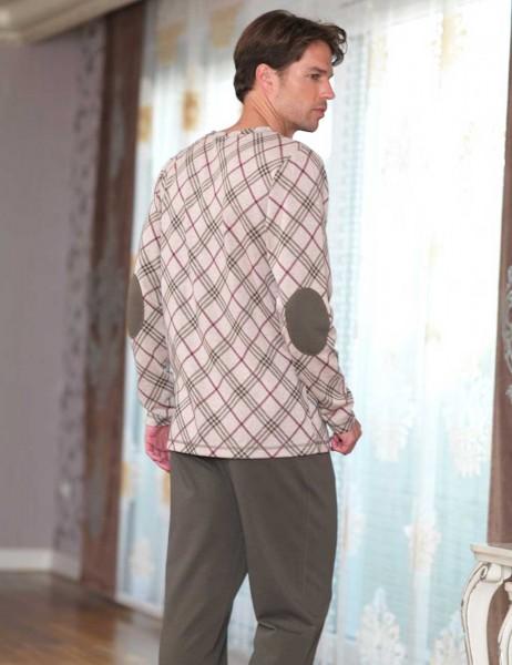Şahinler - Şahinler Desenli Erkek Pijama Takımı Haki MEP23230-1 (1)