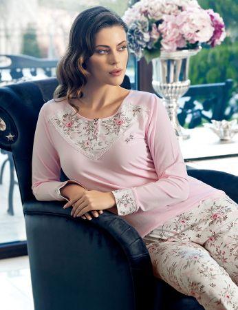 Şahinler - Şahinler Desenli Kadın Pijama Takımı MBP24133-1