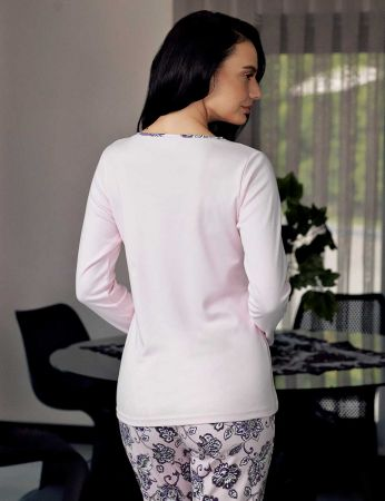 Şahinler - Şahinler Desenli Kadın Pijama Takımı Pembe MBP23708-1 (1)