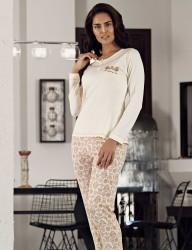Şahinler Desenli Pijama Takımı MBP23107-2 - Thumbnail