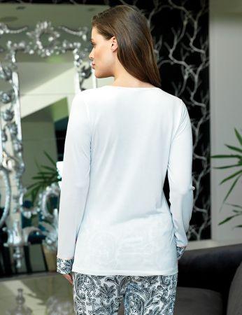 Şahinler - Şahinler Düğmeli Kadın Pijama Desenli MBP24107-1 (1)