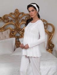 Şahinler - Şahinler Emzirme Lohusa Pijama (Terlik) MBP23123-1 (1)