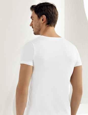 Şahinler Erkek Modal Kısakol Atlet Beyaz ME129 - Thumbnail