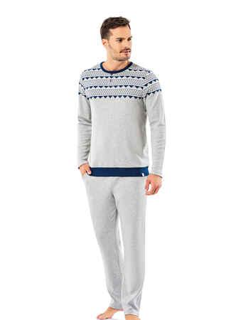 Şahinler Erkek Pijama Takımı MEP25065-1 - Thumbnail