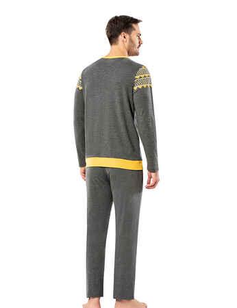 Şahinler Erkek Pijama Takımı MEP25065-2 - Thumbnail