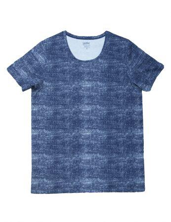 Şahinler - Şahinler Erkek T-Shirt Kot Desen D-39