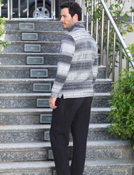Şahinler - Şahinler Fermuar Ceketli Pijama Takımı MEP22501-1 (1)