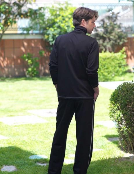 Şahinler - Şahinler Fermuarlı Erkek Pijama Takımı Siyah MEP23214-1 (1)
