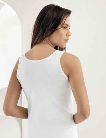 Şahinler - Sahinler geripptes Unterhemd mit breiten Trägern weiß MB009 (1)
