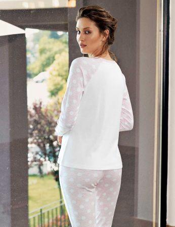 Şahinler - Şahinler Geyik Baskılı Bayan Pijama Takımı Pembe MBP24306-2 (1)