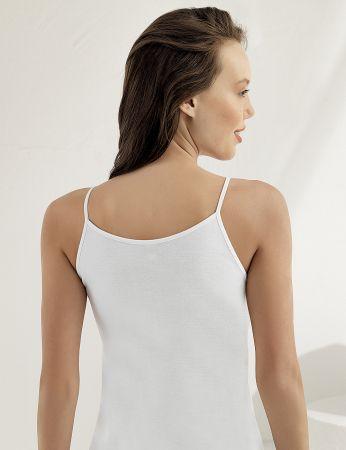 Sahinler glattes Unterhemd mit Spagetti-Trägern weiß MB001
